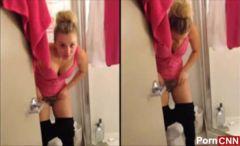 Caiu na net Kaley Cuoco vídeo amador rebolando de calcinha