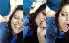 Vídeo amador namorada gordinha sorrindo e gemendo fazendo sexo
