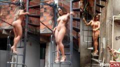 Vídeo Renata Frisson Mulher Melão pelada na comunidade Parte 3