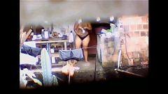 Flagra vizinha bunduda tomando banho lavando pepeca de calcinha
