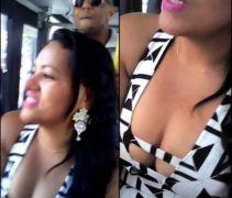 Carioca deliciosa vacilou dentro do ônibus pagando peito no coletivo - RJ
