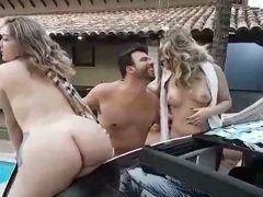 Mineiro tirando onda com duas putas peladas na farra