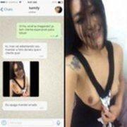 Vou confiar mas depois apaga esse video por favor – Kamily caiu no WhatsApp mostrando peitos
