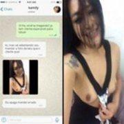 Vou confiar mas depois apaga esse video por favor - Kamily caiu no WhatsApp mostrando peitos