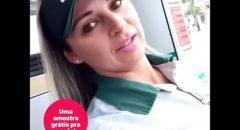 frentista gostosa do post Petrobras pagando boquete no horário de almoço