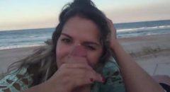 loirinha amadora e fogosa pagando boquete na praia de Cabo Frio