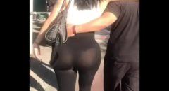 flagra real mulher de calça transparente passeando pela cidade